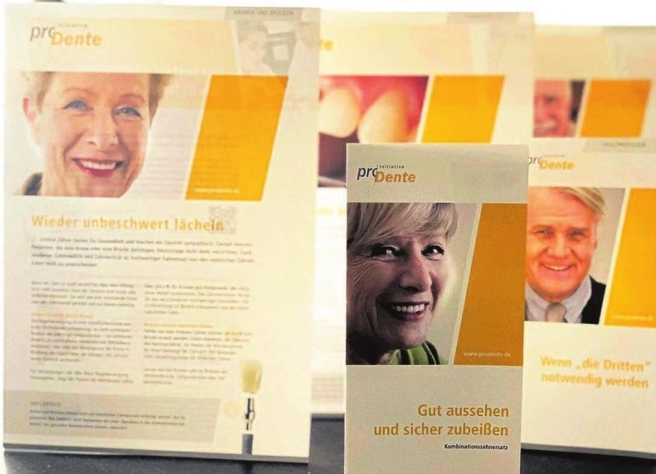 Noch bis zum 25. September können Patienten und Interessierte kostenfrei aus über 20 Broschüren und Flyern auswählen. Foto: broschüre-prodente