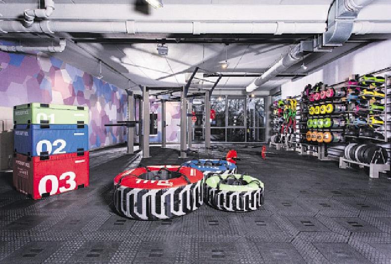 Im Untergeschoss des Sports Clubs entsteht ein 500 Quadratmeter großer Athletik-Bereich Foto: Escape Fitness