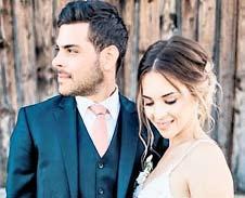 Bildhübsches Paar: Leverkusens Kevin Volland heiratete seine Freundin Katja.