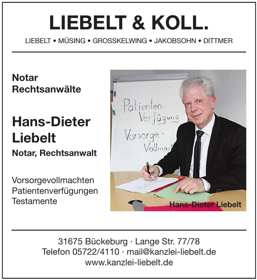 Hans-Dieter Liebelt Notar, Rechtsanwalt