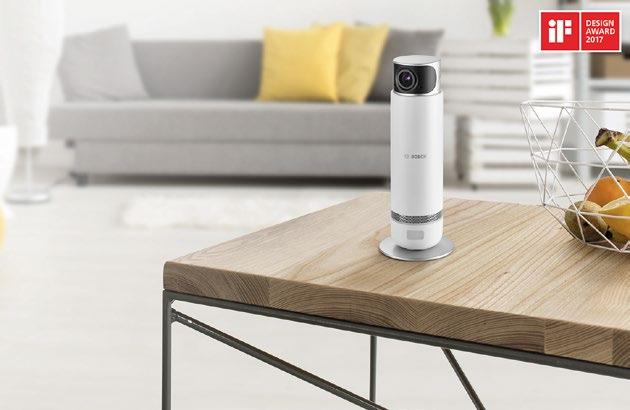"""Die Bosch Smart Home 360° Innenkamera achtet sehr auf die Privatsphäre. Zudem """" kann mit ihr, unter anderem, jederzeit in alle Winkel eines Raumes geblickt werden"""