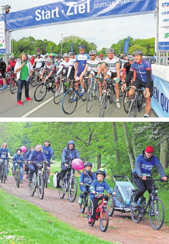 Ob sportliche 110 Kilometer oder die Sechs-Kilometer-Schlingel-Runde: Beim LVZ-Fahrradfest ist für alle Radler die passende Strecke dabei. Fotos: André Kempner