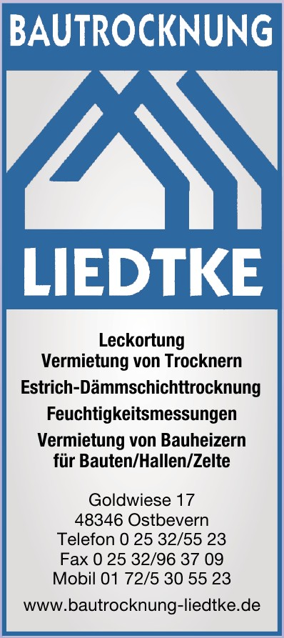 Bautrockung Liedtke