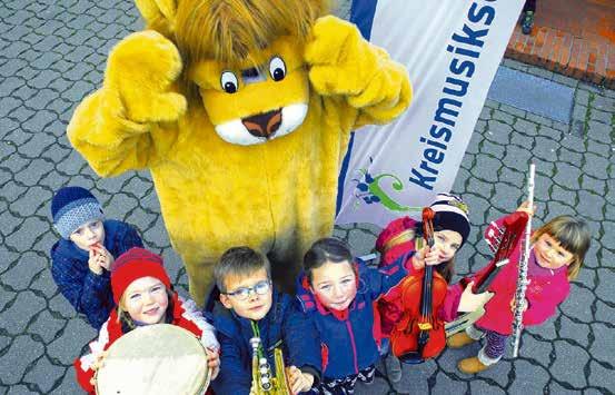 Mit ihrem Maskottchen Cellino feiert die Kreismusikschule 2018 Jubiläum. Foto: Landkreis Celle