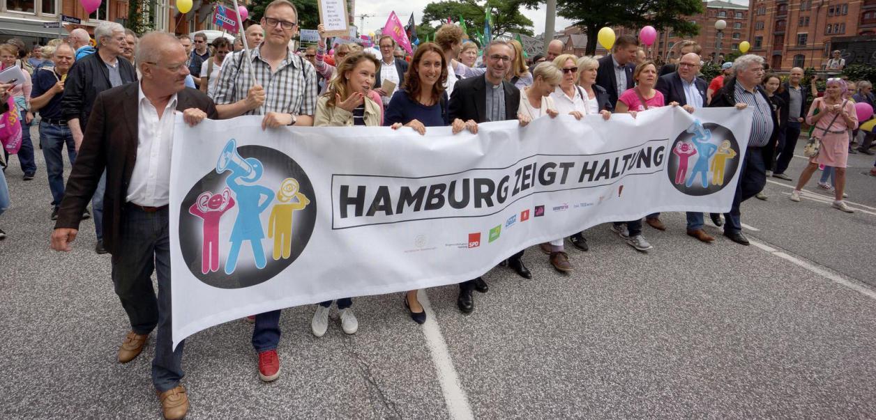 Haltung gezeigt gegen G20-Gewalt Image 1