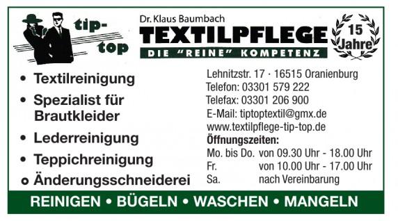 Textilpflege tip top