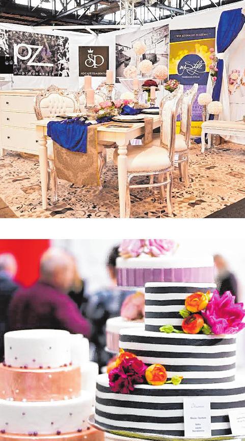 Über 180 Aussteller präsentieren ihr Angebot auf der Hochzeitsmesse in Mannheim.