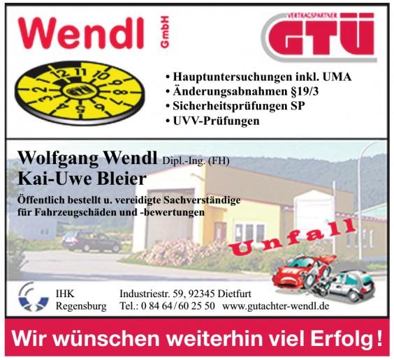 Wolfgang Wendl Dipl.-Ing. (FH) Kai-Uwe Bleier