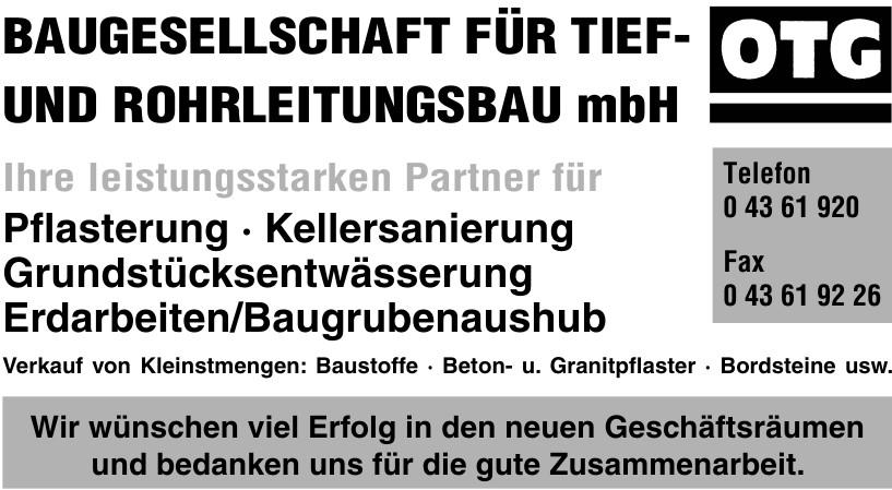Baugesellschaft für Tief- und Rohrleitungsbau mbH