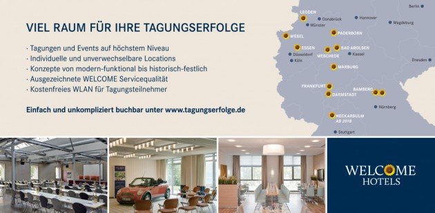 WELCOME HOTELS Tagungserfolge