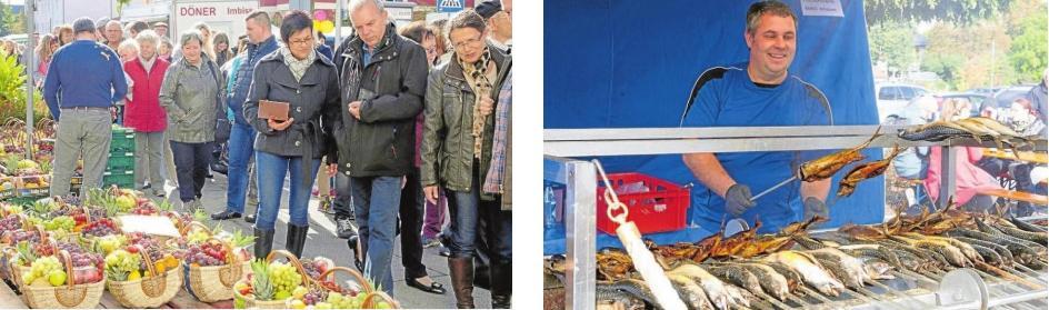 Zahlreiche Besucher werden zum Königsmarkt wieder erwartet. Sie dürfen sich auf ein buntes Warenangebot der vielen verschiedenen Aussteller freuen sowie auf allerlei Leckereien wie Steckerlfisch, Flammkuchen oder Bosna. Fotos: Valterio D'Arcangelo