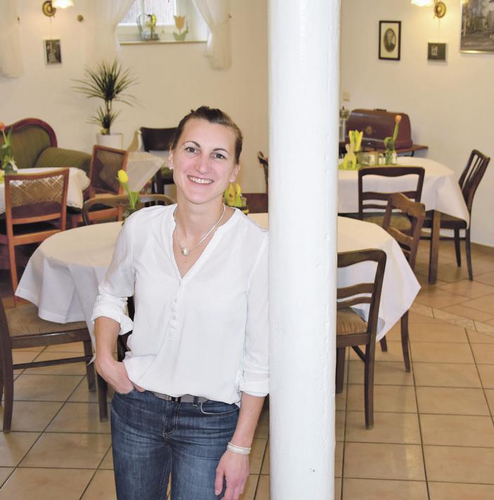 Julia Thiel legt großen Wert auf die frische Zubereitung der Speisen. Foto: Stallmann