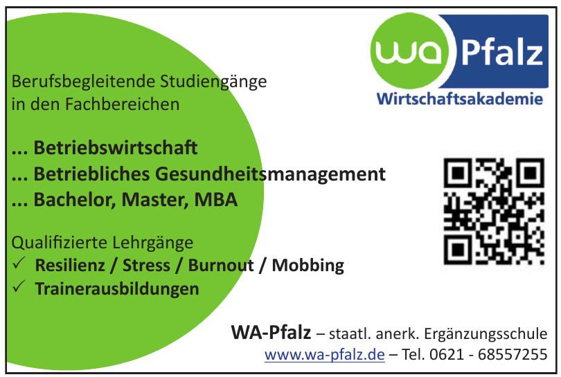 WA-Pfalz – staatl. anerk. Ergänzungsschule