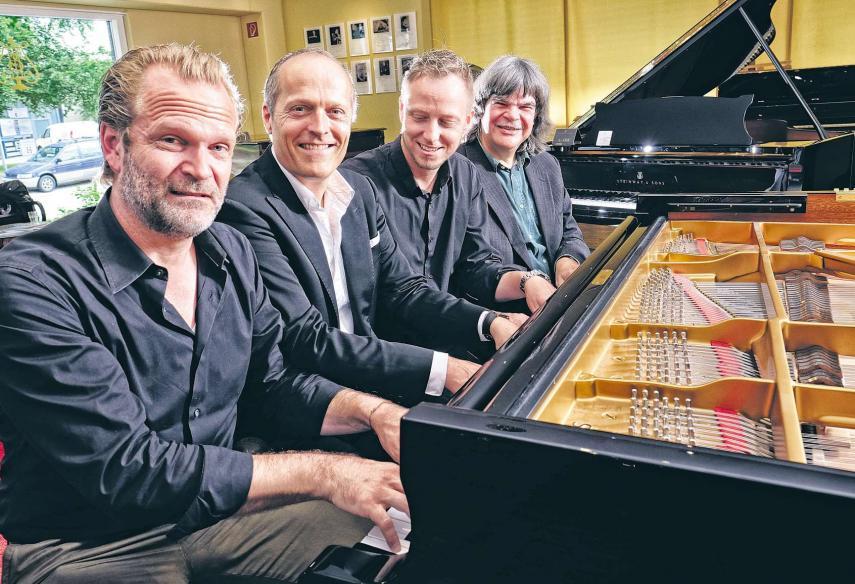 Sebastian Knauer, Joja Wendt, Martin Tingvall und Axel Zwingenberger geben ein gemeinsames Klavierkonzert HA/ANDREAS LAIBLE