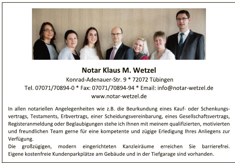 Notar Klaus M. Wetzel