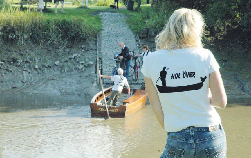 """""""Hol över!"""" Das ist Ruf, mit dem man den Fährmann bittet, einen über die Krückau überzusetzen bei der Fähre Kronsnest Foto: Kuno Klein"""