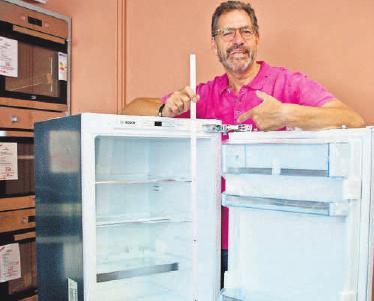 Klaus Thiel weiß, wie sich Küchen aufmotzen lassen: Manchmal genügt ein neuer Kühlschrank.