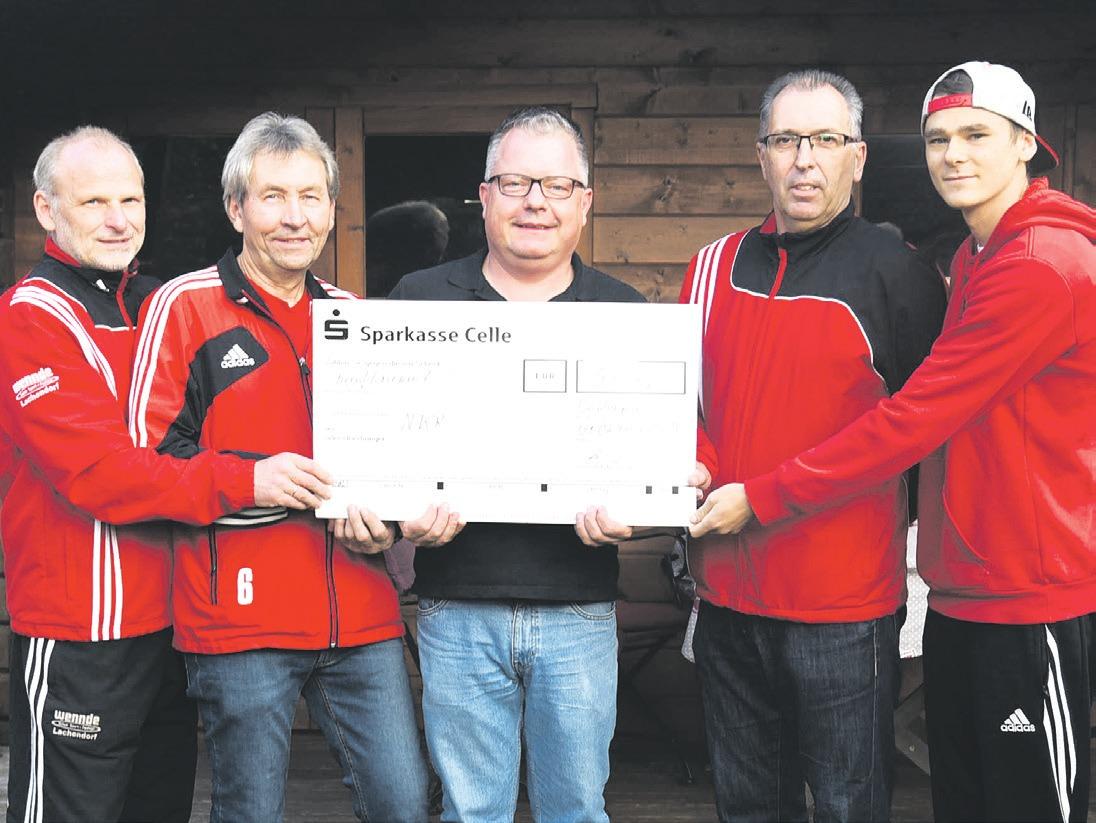 Frank Böse (von links), Hartmut Krause, Holger Bischoff, Andreas Sinning und Luigi Böse. Foto: Lisa Müller