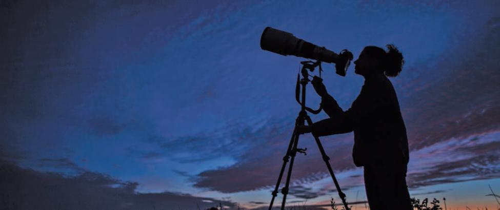 Nur wenige Menschen sind im Winter nachts an der Mecklenburgischen Seenplatte unterwegs. Die wenigen Sternenbeobachter erleben solche Nachthimmel. Fotos: Sebastian Kartheuser/dpa-tmn
