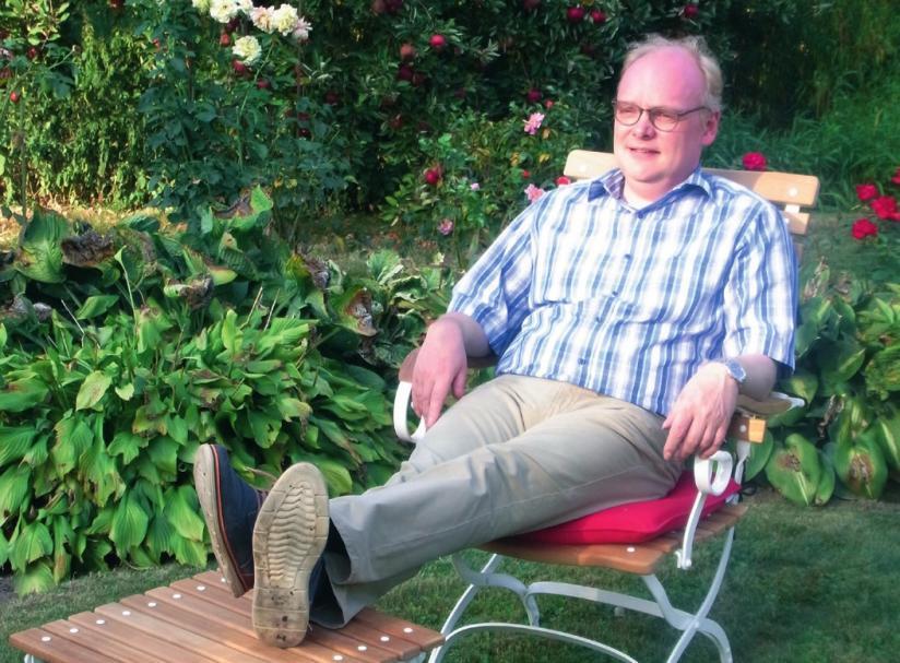 In seinem Garten kommen dem Geschäftsmann und Gemeindebürgermeister oft die besten Ideen.