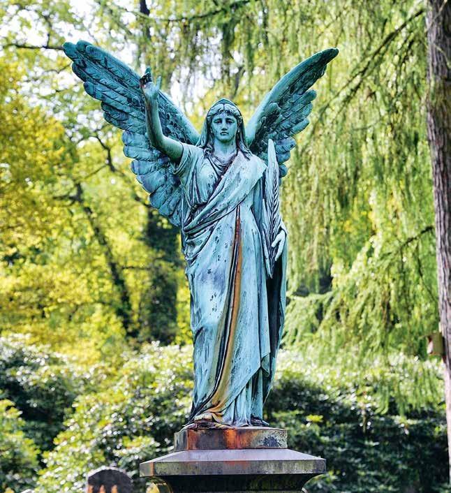 Einzigartig: Der Ohlsdorfer Friedhof ist mit 389 Hektar der größte Parkfriedhof der Welt, 580 Prominente von Hans Albers bis Helmut Zacharias fanden hier ihre letzte Ruhe