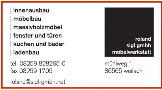 Roland Sigl GmbH Möbelwerkstatt