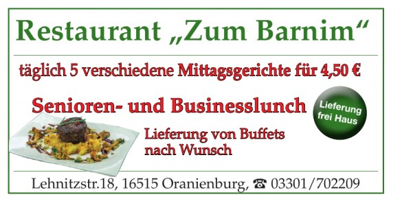 "Restaurant ""Zum Barnim"""
