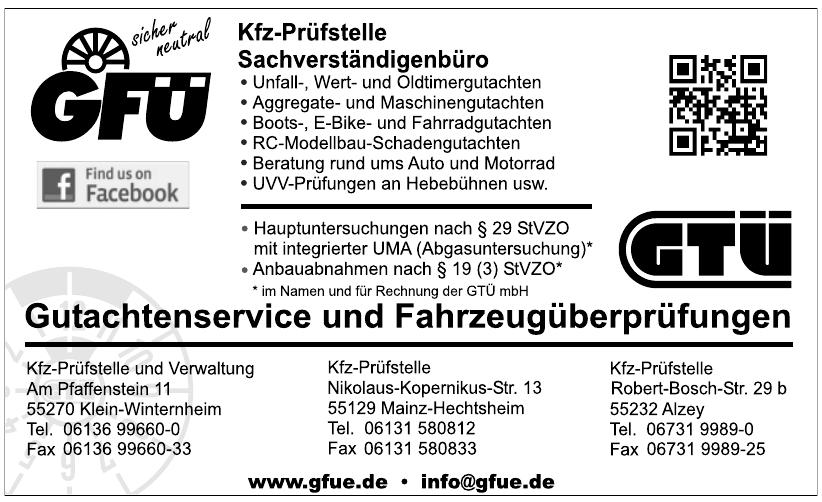 GFÜ Gutachtenservice und Fahrzeugüberprüfungen