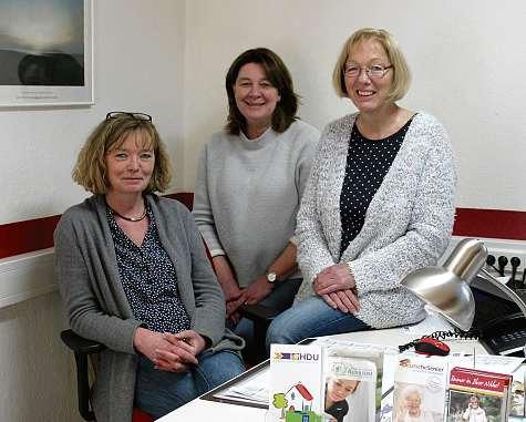 Marion Schnoor, Andrea Repenning und Ruth Graap (v.li.) von HDU Ambulanter Pflegedienst e.V.FOTO: HFR