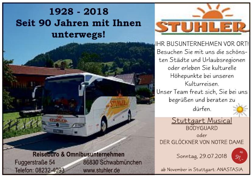 Omnibusunternehmen und Reisebüro Stuhler