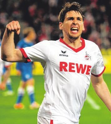 Patrick Helmes nach dem Treffer gegen Bochum. Foto: dpa