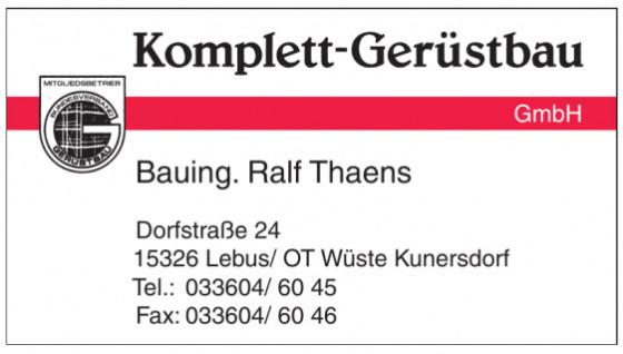 Komplett-Gerüstbau GmbH