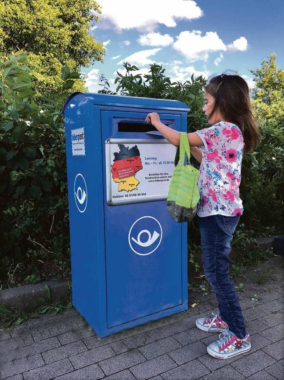 Briefe Mit Der Magdeburger Biber Post Verschicken