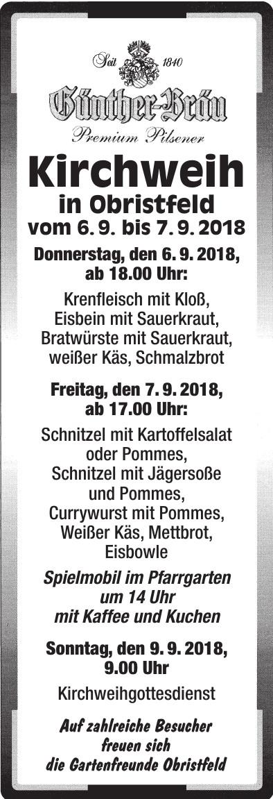 Kirchweih in Obristfeld