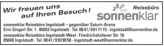 sonnenklar Reisebüro Ingolstadt
