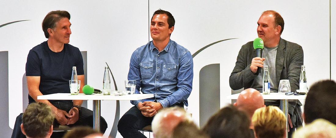 Die VFL-Troika: Trainer Bruno Labbadia, Sportdirektor Marcel Schäffer und Sport-Geschäftsführer Jörg Schmadtke.