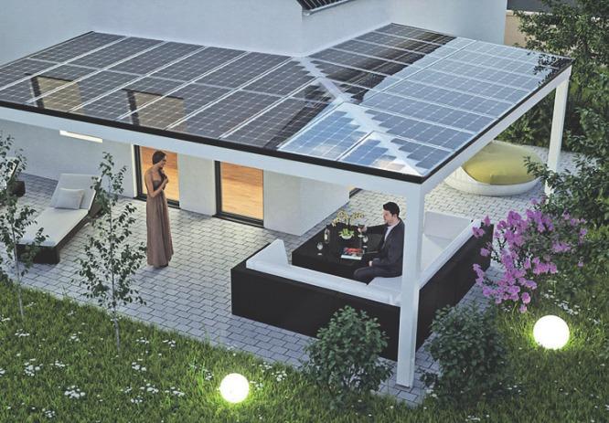 Der erzeugte Stromwirdimeigenen kostenfreigenutzt, überschüssiger wirdgespeichert. Foto:djd/solarcarporte.de