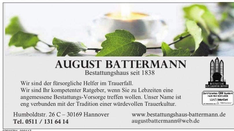 August Battermann