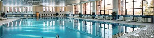 Ein riesiger Spa- und Fitnessbereich sorgt für Luxusfl air und eine entspannte Atmosphäre im DFB-Quartier.