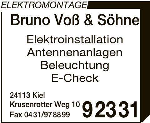 Elektromontage Bruno Voß & Söhne