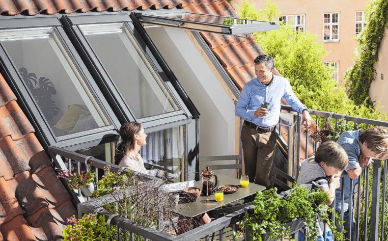 Sommer auf dem Dach genießen