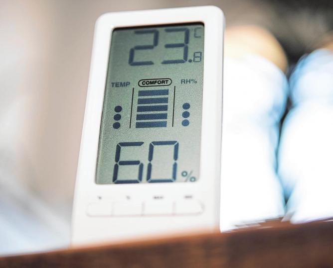 Hygrometer schützen vor Schimmelbildung