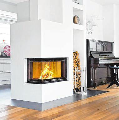 Smarthome mit Holzfeuer