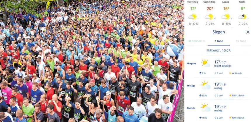 Ideale Bedingungen – das große Läuferfest kann steigen