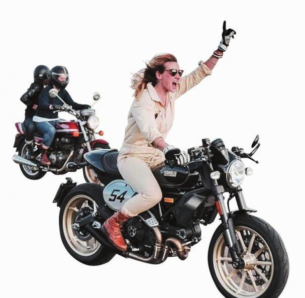 Bikerin Irene Konik macht Motorrad-Touren mit Frauen