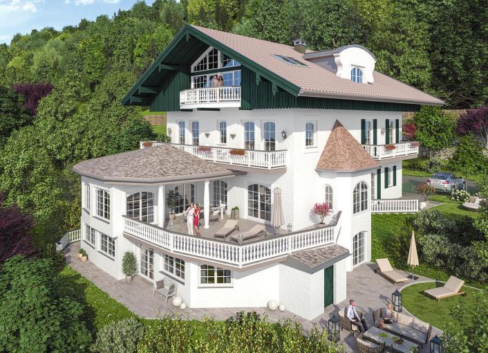 7 Traumwohnungen in einzigartigen Seeblick-Villen am Tegernsee