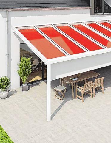 Ein Schattenreich für große Terrassen