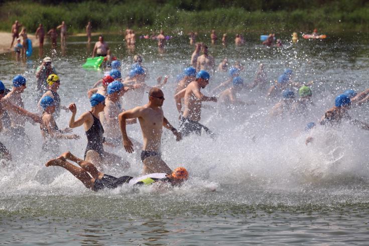 Rund 400 Triathleten werden am 6. Juli in Roßbach erwartet