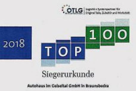 Autohaus im Geiseltal unter den Top 100 der Teiledienste
