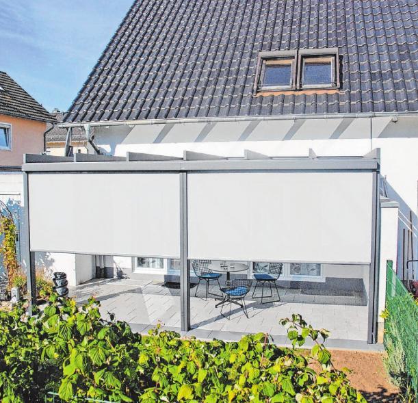 Rundum geschützt auf der Terrasse